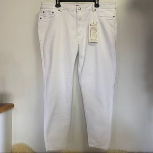 Suko Plus Size 20 White Skinny Jeans Lift n Shape